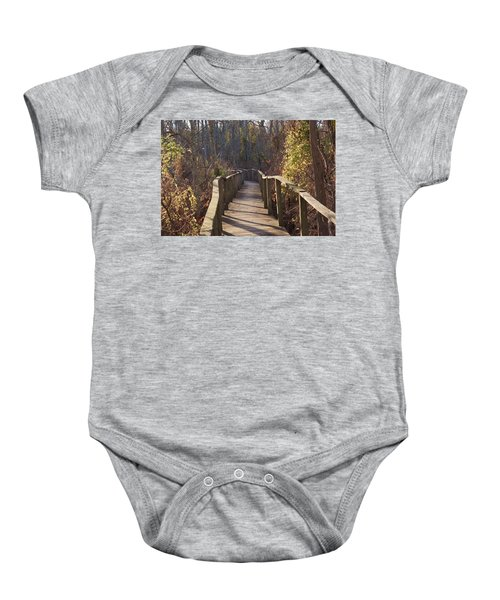 Trail Bridge Baby Onesie