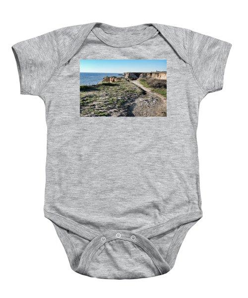 Trail On The Cliffs Baby Onesie