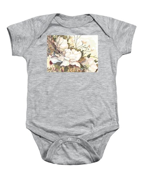 Tranquility Study In White Baby Onesie