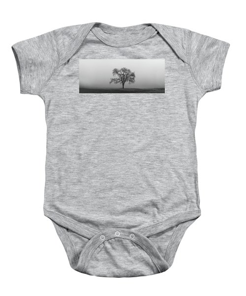 Tree Alone In The Fog Baby Onesie