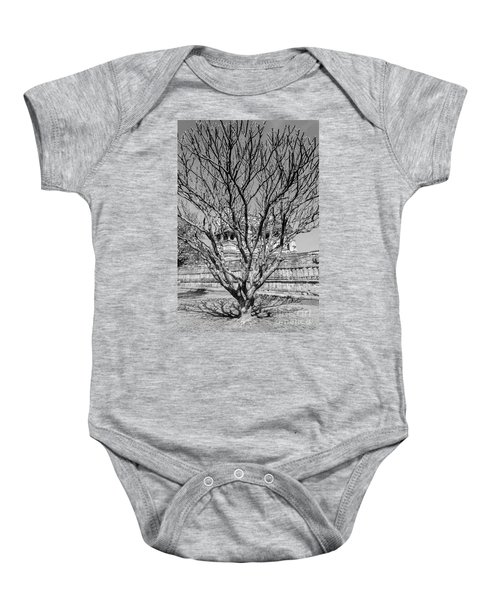 Tree And Temple Baby Onesie