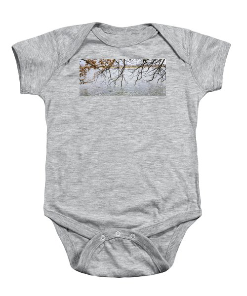 Tree Branches Over Lake Baby Onesie