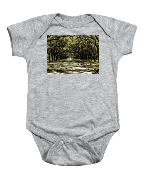 Tree Covered Approach Baby Onesie