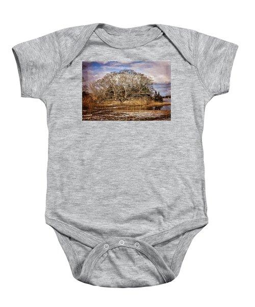 Tree In Marsh Baby Onesie