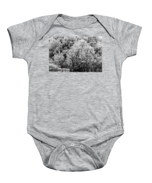 Trees On The River Baby Onesie
