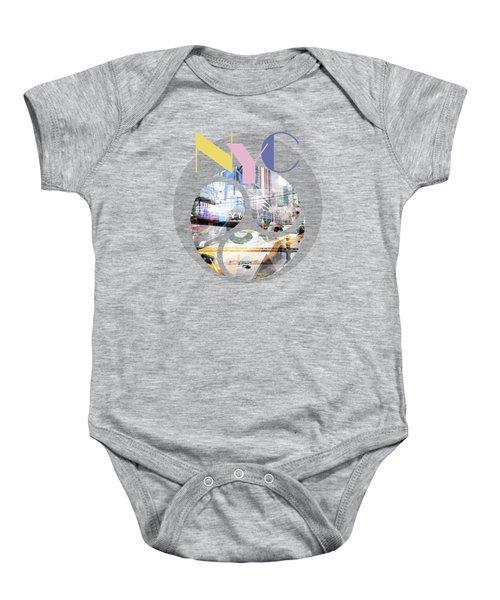 Trendy Design New York City Geometric Mix No 1 Baby Onesie