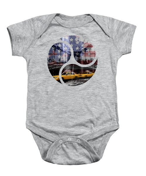 Trendy Design Nyc Composing Baby Onesie by Melanie Viola
