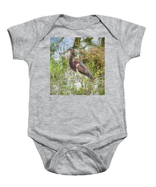 Tri-colored Heron Baby Onesie