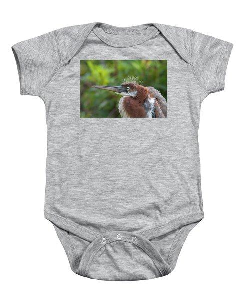 Tricolored Heron - Bad Hair Day Baby Onesie