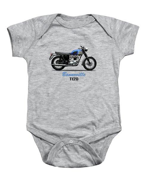 Triumph Bonneville T120 1965 Baby Onesie