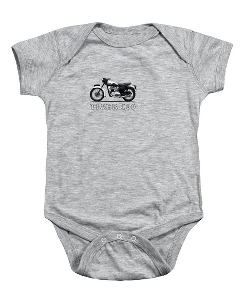 Triumph Tiger 110 1959 Baby Onesie by Mark Rogan