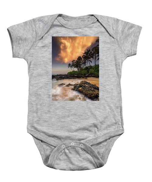 Tropical Nuclear Sunrise Baby Onesie