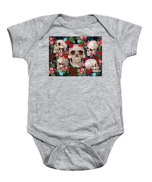Tropical Skull  Baby Onesie