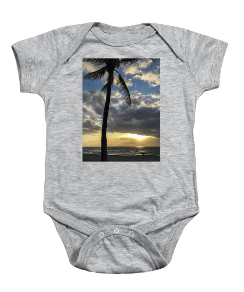 Tropical Sunrise Baby Onesie