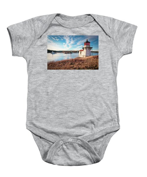 Tugboat, Squirrel Point Lighthouse Baby Onesie