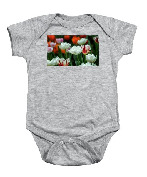 Tulip Flowers Baby Onesie