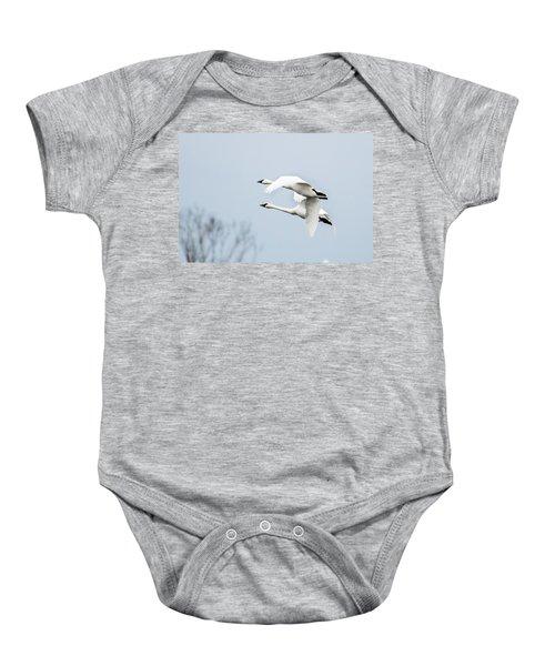 Tundra Swan Lift-off Baby Onesie