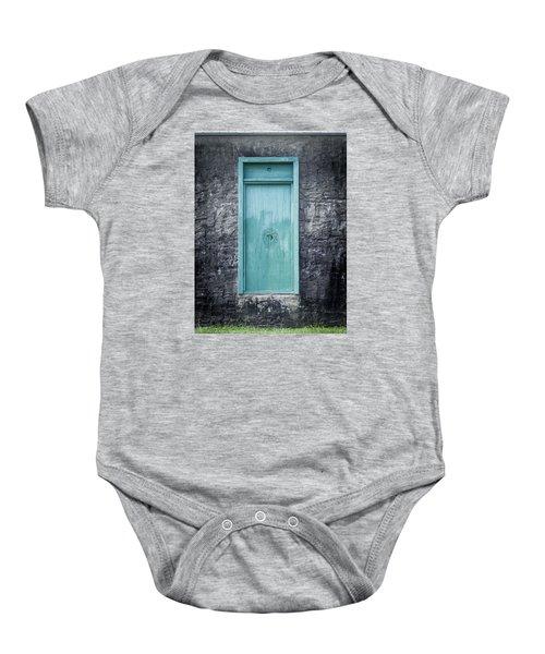 Turquoise Door Baby Onesie