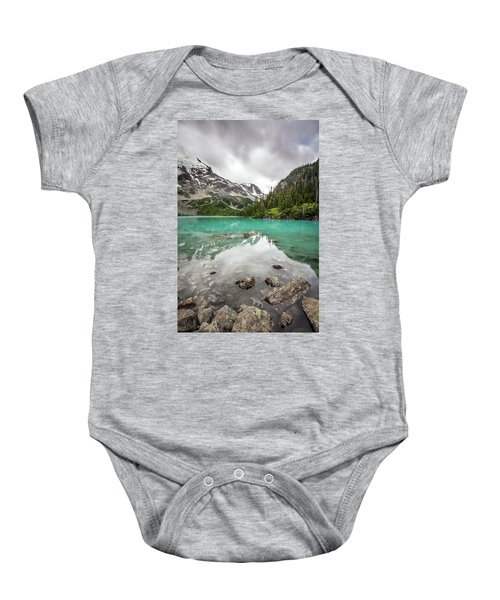 Turquoise Lake In The Mountains Baby Onesie