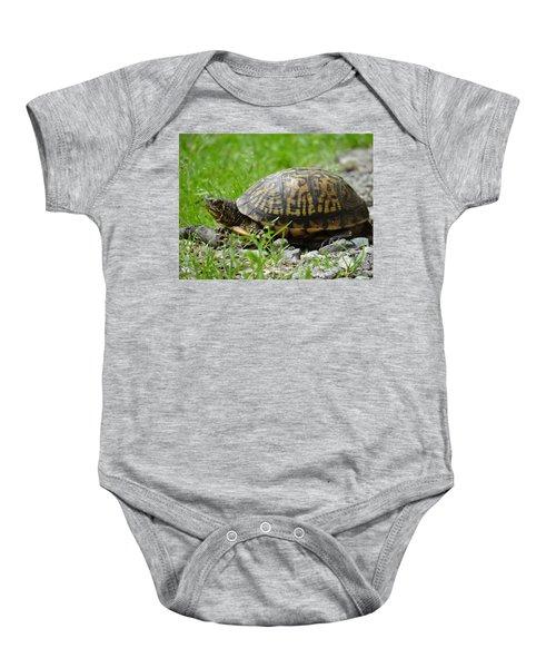 Turtle Crossing Baby Onesie