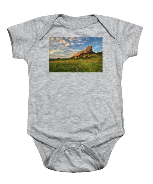 Turtle Rock At Sunset Baby Onesie