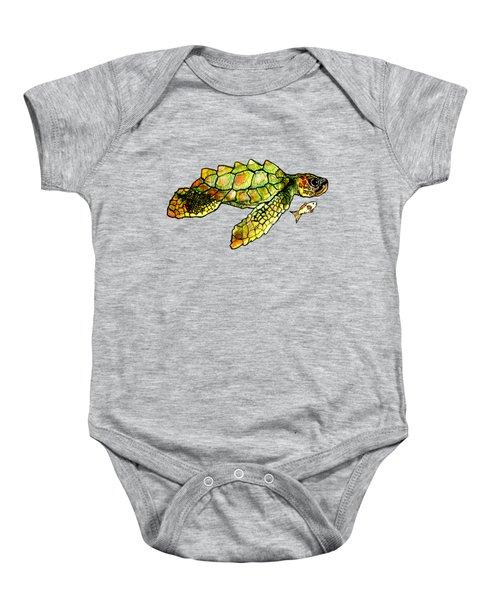 Turtle Talk Baby Onesie