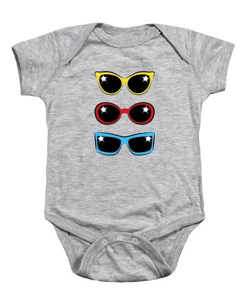 Twentieth Century Sunglasses Baby Onesie