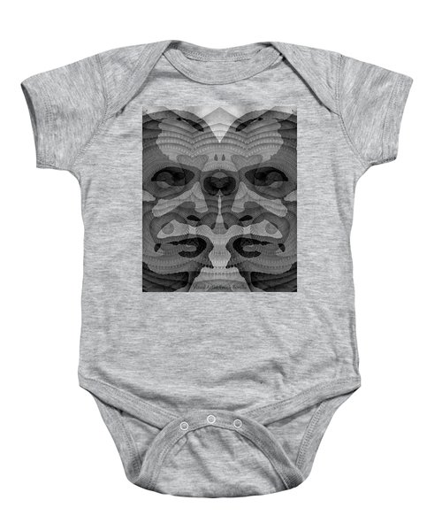 Two-faced Bw Version Baby Onesie