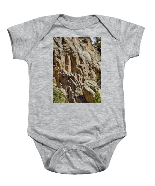 Baby Onesie featuring the photograph Two Rock Climbers Making Their Way by James BO Insogna