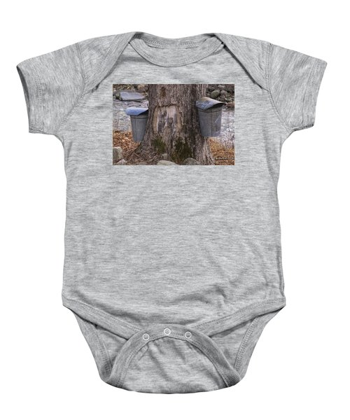 Two Syrup Buckets Baby Onesie