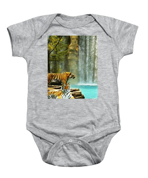Two Tigers Baby Onesie