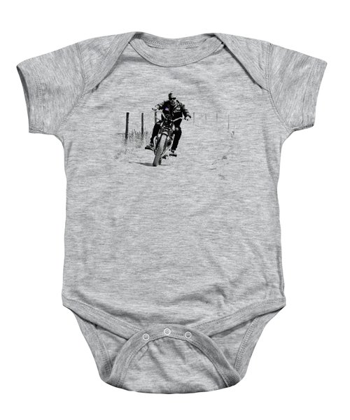 Two Wheels Move The Soul Baby Onesie by Mark Rogan