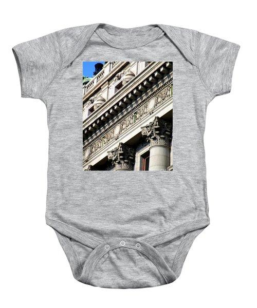 U S Custom House 2 Baby Onesie by Randall Weidner