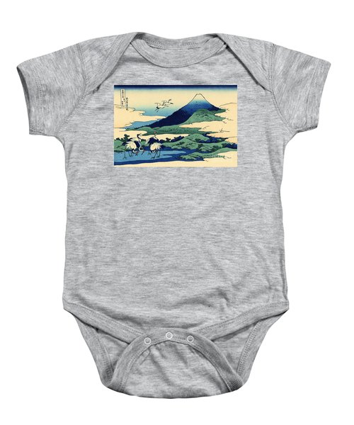 Umegawa In Sagami Province, One Of Thirty Six Views Of Mount Fuji Baby Onesie by Hokusai