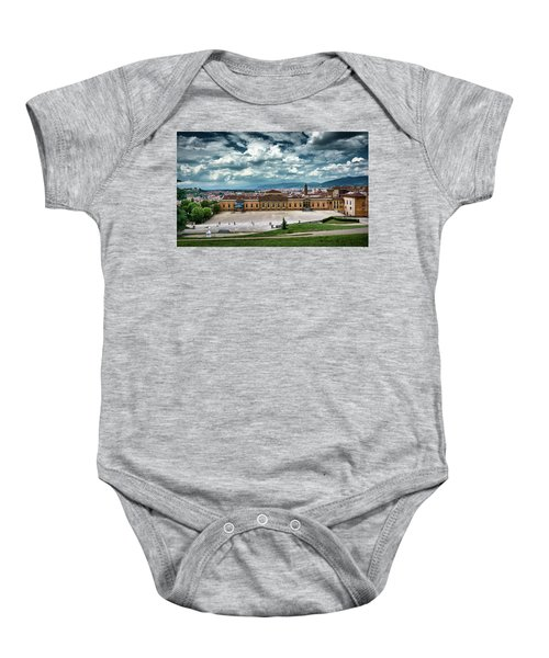 The Meridian Palace And Cityscape In Florence, Italy Baby Onesie