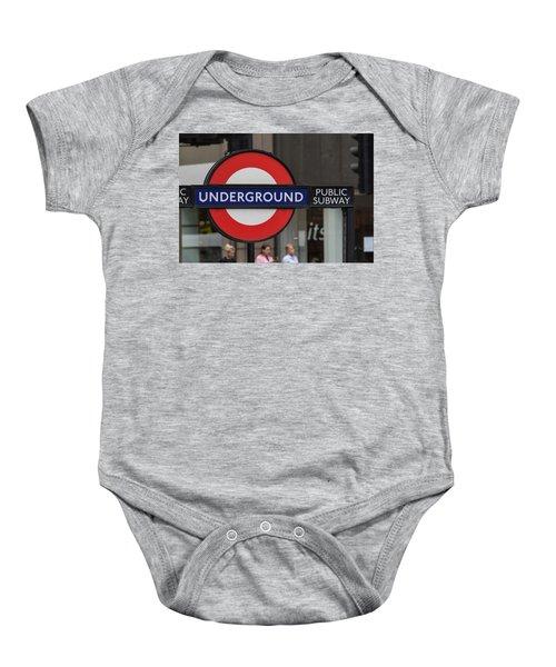 Underground Sign London Baby Onesie