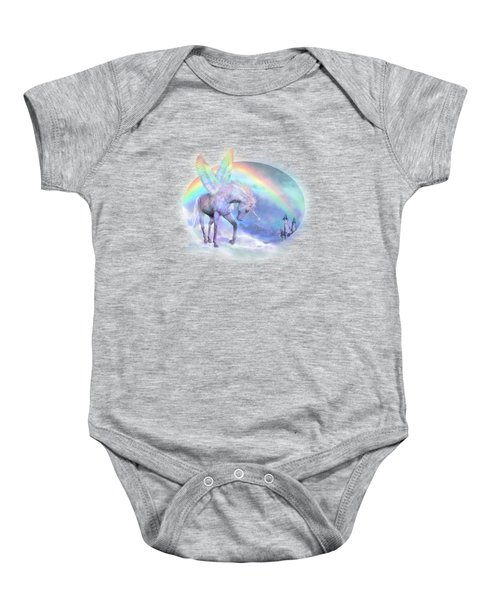 Unicorn Of The Rainbow Baby Onesie by Carol Cavalaris