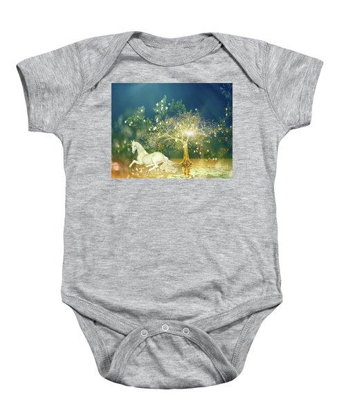 Unicorn Resting Series 2 Baby Onesie