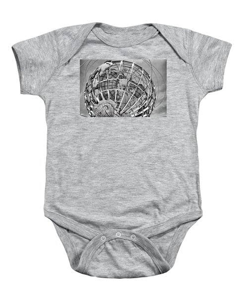 Unisphere In Black And White Baby Onesie