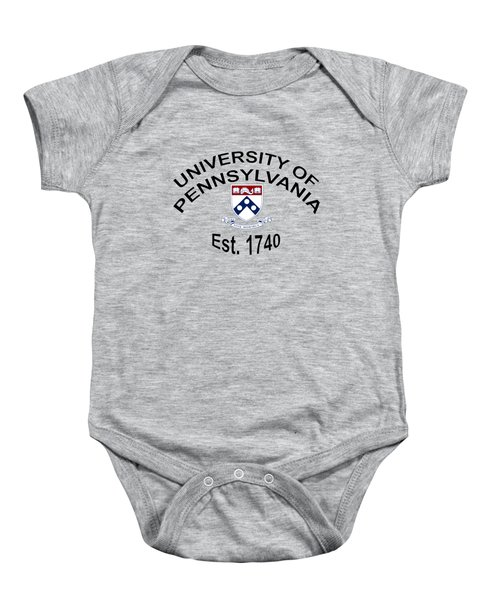 University Of Pennsylvania Est 1740 Baby Onesie by Movie Poster Prints