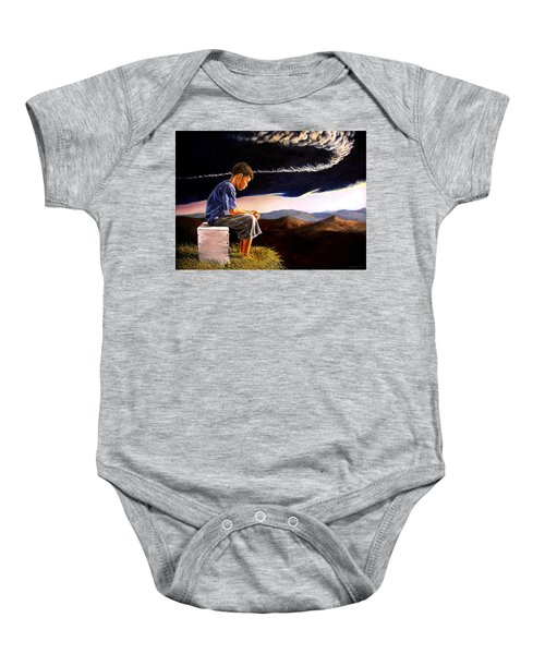 Unscarred Mountain Baby Onesie
