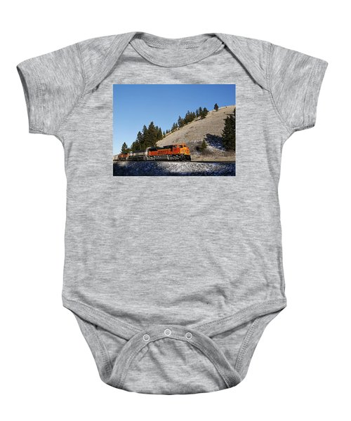 Up Hill And Into The Sun Baby Onesie