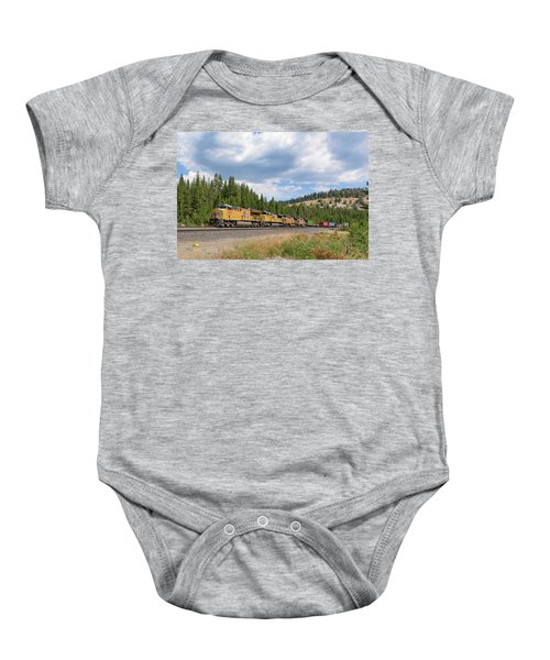 Baby Onesie featuring the photograph Up2650 Westbound From Donner Pass by Jim Thompson