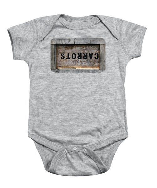 Upside Down Carrot Box Baby Onesie