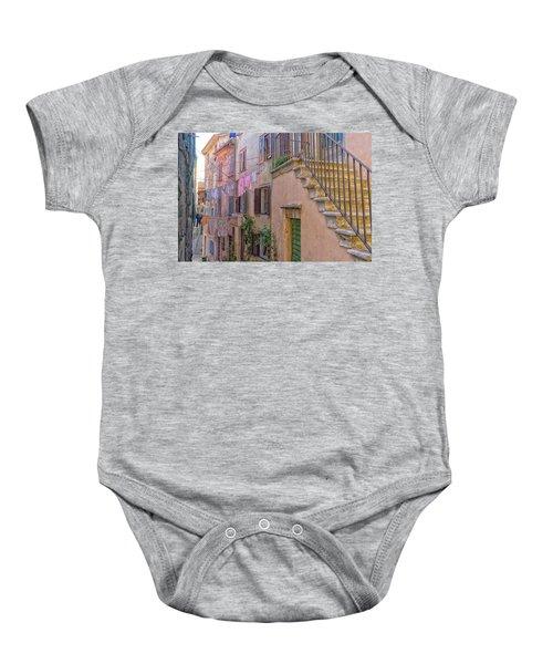 Urban View With Laundary Baby Onesie