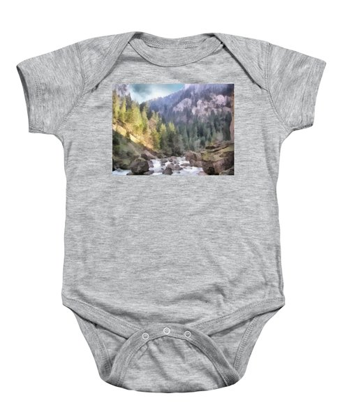 Valley Of Light And Shadow Baby Onesie