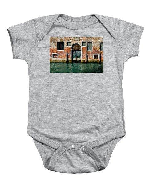 Venetian House On Canal Baby Onesie