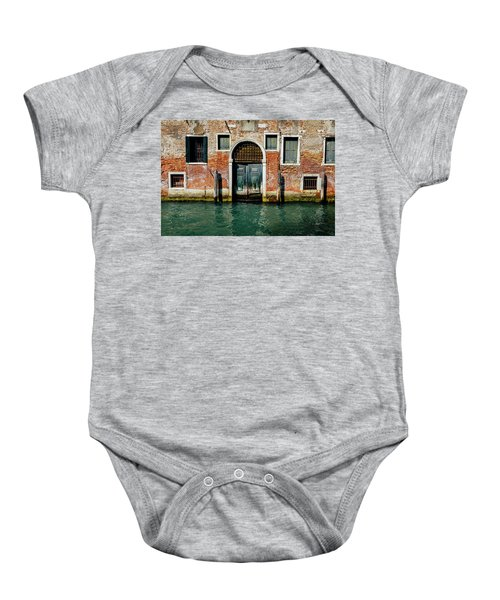 Venetian House On Canal Baby Onesie