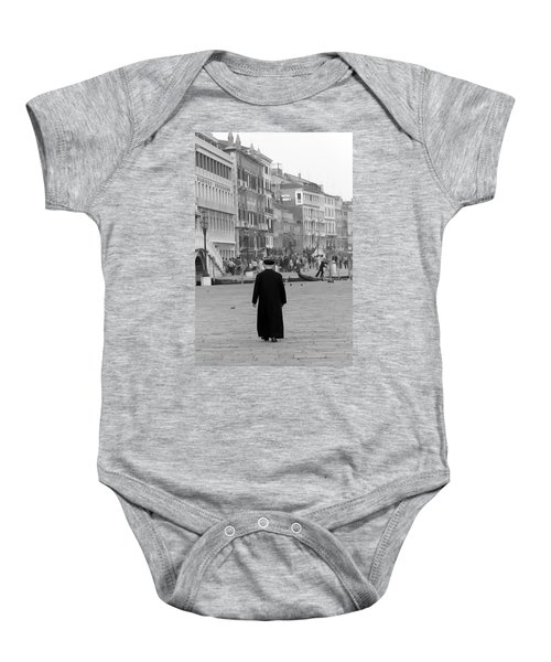 Venetian Priest And Gondola Baby Onesie