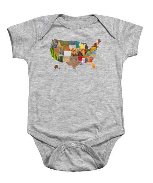 Vibrant Textures Of The United States Baby Onesie by Design Turnpike